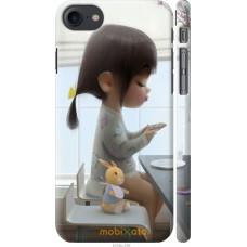 Чехол на iPhone 7 Милая девочка с зайчиком