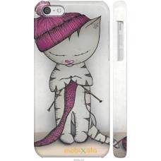 Чехол на iPhone 5c Кошка рукодельница