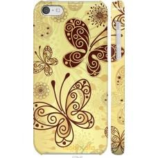 Чехол на iPhone 5c Рисованные бабочки