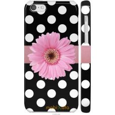 Чехол на iPhone 5c Цветочек горошек v2