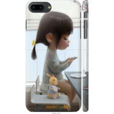 Чехол на iPhone 7 Plus Милая девочка с зайчиком