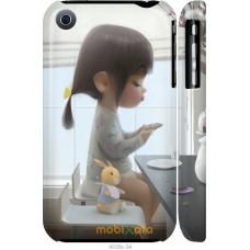 Чехол на iPhone 3Gs Милая девочка с зайчиком