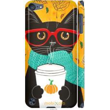 Чехол на iPod Touch 5 Осенний кот