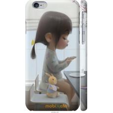 Чехол на iPhone 6 Милая девочка с зайчиком