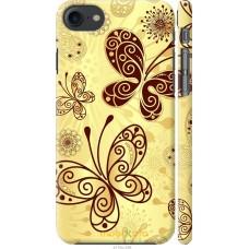 Чехол на iPhone 7 Рисованные бабочки