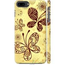 Чехол на iPhone 7 Plus Рисованные бабочки