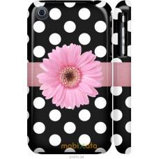 Чехол на iPhone 3Gs Цветочек горошек v2