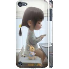 Чехол на iPod Touch 5 Милая девочка с зайчиком
