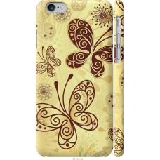 Чехол на iPhone 6 Рисованные бабочки
