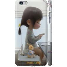 Чехол на iPhone 6 Plus Милая девочка с зайчиком