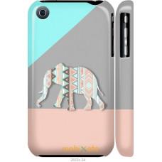 Чехол на iPhone 3Gs Узорчатый слон