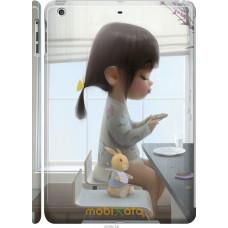 Чехол на iPad 5 (Air) Милая девочка с зайчиком