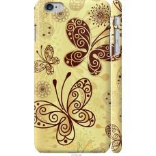 Чехол на iPhone 6 Plus Рисованные бабочки