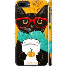 Чехол на iPhone 8 Plus Осенний кот