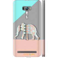 Чехол на Asus ZenFone Selfie ZD551KL Узорчатый слон