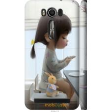 Чехол на Asus ZenFone 2 Laser ZE500KL Милая девочка с зайчик