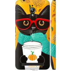 Чехол на Asus Zenfone Go ZC500TG Осенний кот