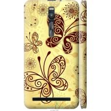 Чехол на Asus Zenfone 2 ZE551ML Рисованные бабочки