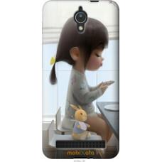 Чехол на Asus ZenFone C ZC451CG Милая девочка с зайчиком