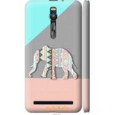 Чехол на Asus Zenfone 2 ZE551ML Узорчатый слон
