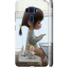 Чехол на Asus Zenfone 3 ZE552KL Милая девочка с зайчиком