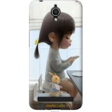 Чехол на Asus ZenFone Go ZC451TG Милая девочка с зайчиком
