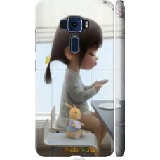 Чехол на Asus Zenfone 3 ZE520KL Милая девочка с зайчиком