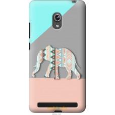 Чехол на Asus ZenFone 6 A600CG Узорчатый слон