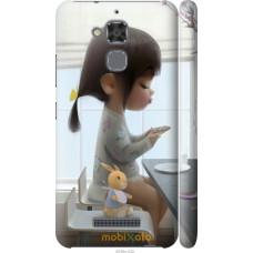 Чехол на Asus Zenfone 3 Max ZC520TL Милая девочка с зайчиком