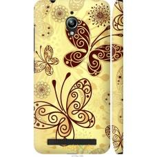 Чехол на Asus Zenfone Go ZC500TG Рисованные бабочки