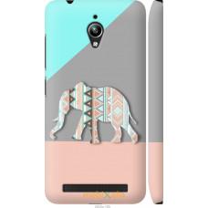 Чехол на Asus Zenfone Go ZC500TG Узорчатый слон