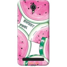 Чехол на Asus ZenFone Go ZC451TG Розовый арбузик