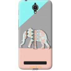 Чехол на Asus ZenFone Go ZC451TG Узорчатый слон
