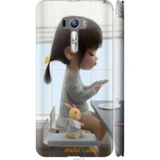 Чехол на Asus ZenFone Selfie ZD551KL Милая девочка с зайчико