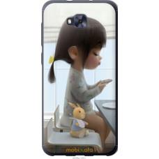 Чехол на Asus ZENFONE 4 SELFIE | ZD553KL Милая девочка с зай