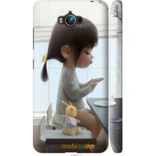 Чехол на Asus ZenFone Max ZC550KL Милая девочка с зайчиком