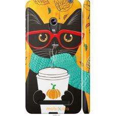 Чехол на Asus Zenfone 5 Осенний кот