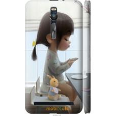 Чехол на Asus Zenfone 2 ZE551ML Милая девочка с зайчиком