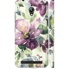 Чехол на Asus Zenfone Go ZC500TG Акварель цветы