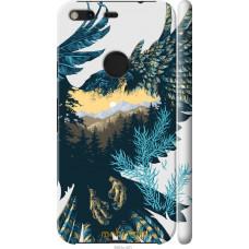 Чехол на Google Pixel XL Арт-орел на фоне природы