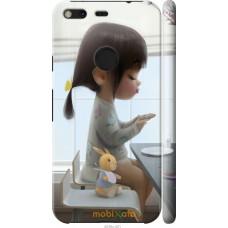 Чехол на Google Pixel XL Милая девочка с зайчиком