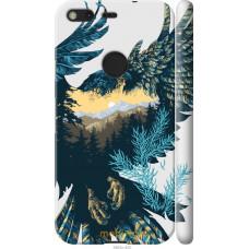 Чехол на Google Pixel Арт-орел на фоне природы