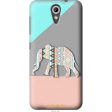 Чехол на HTC Desire 620G Узорчатый слон