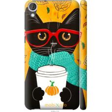 Чехол на HTC Desire 820 Осенний кот
