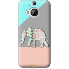 Чехол на HTC One M9 Plus Узорчатый слон