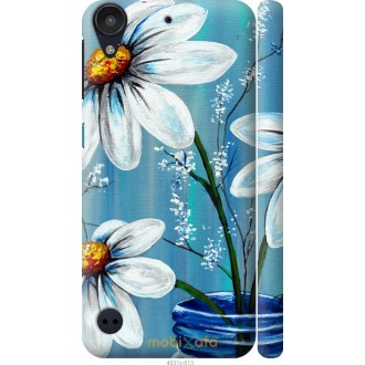 Чехол на HTC Desire 530 Красивые арт-ромашки