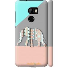 Чехол на HTC One X10 Узорчатый слон