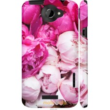 Чехол на HTC One X+ Розовые цветы