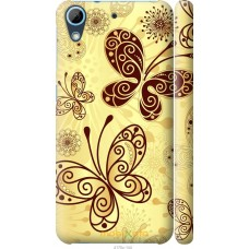 Чехол на HTC Desire 626G Рисованные бабочки