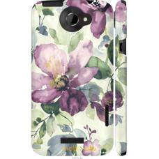 Чехол на HTC One X+ Акварель цветы